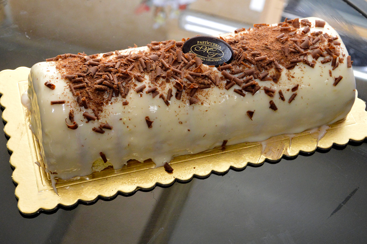 tronchetto glassato chantilly nutella